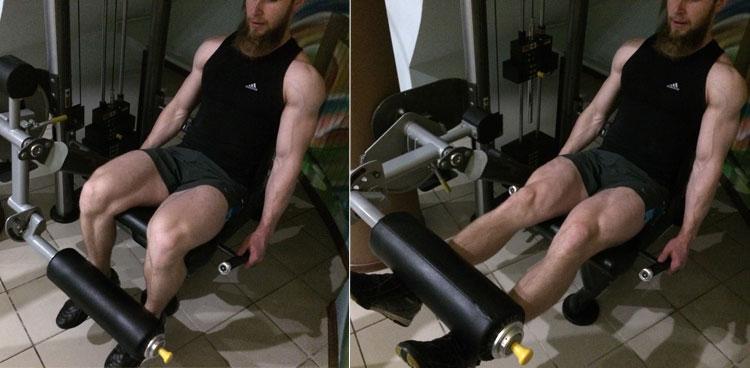 Разгибание ног