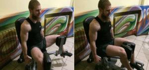 Сведение ног в тренажере