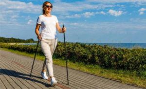 Правильная техника ходьбы с палками для похудения