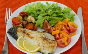 Овощи и филе хека белковое меню