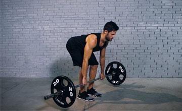 Техника выполнения становой тяги со штангой