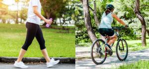 Ходьба или езда на велосипеде